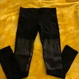 Theory leggings with leather detail